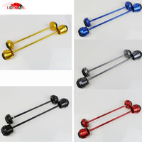 2 PCS Motorcycle Front Rear Wheel Fork Axle Sliders Cap Crash Protector For Yamaha MT 07