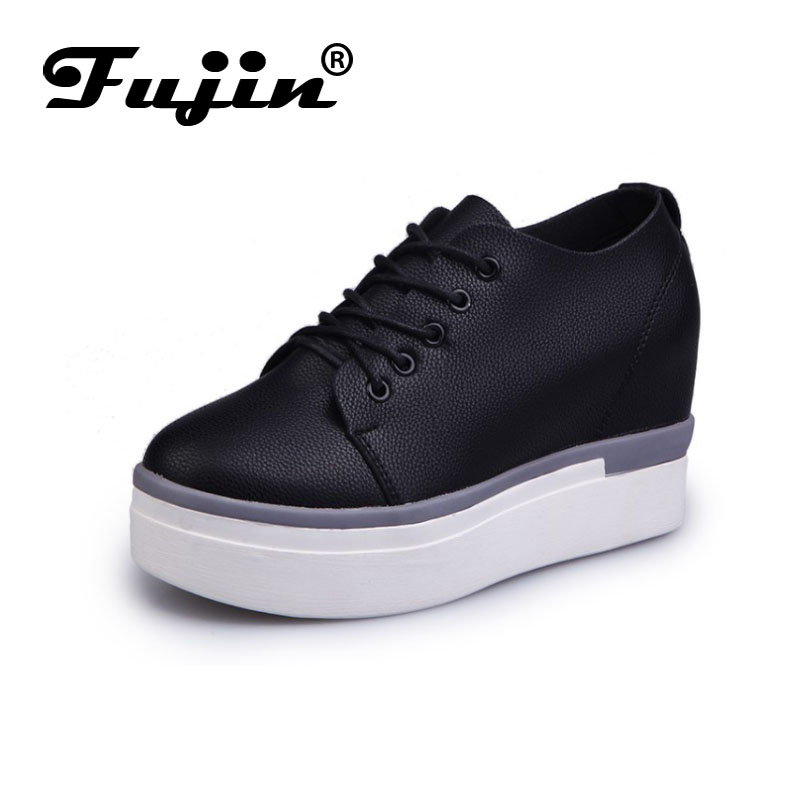 fujin brand spring summer shoes for women casual Shoes increased Woman Pumps wedge toe Pump zapatos mujer tacon 2015 spring and summer wedge heel women pump zipper ladies casual brow shoes