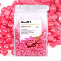 BlueZOO Painless without Strips Depilatory Shimmer Hard Wax Beans for Hair Removal 4 Colors for Choosing 1000g/Bag