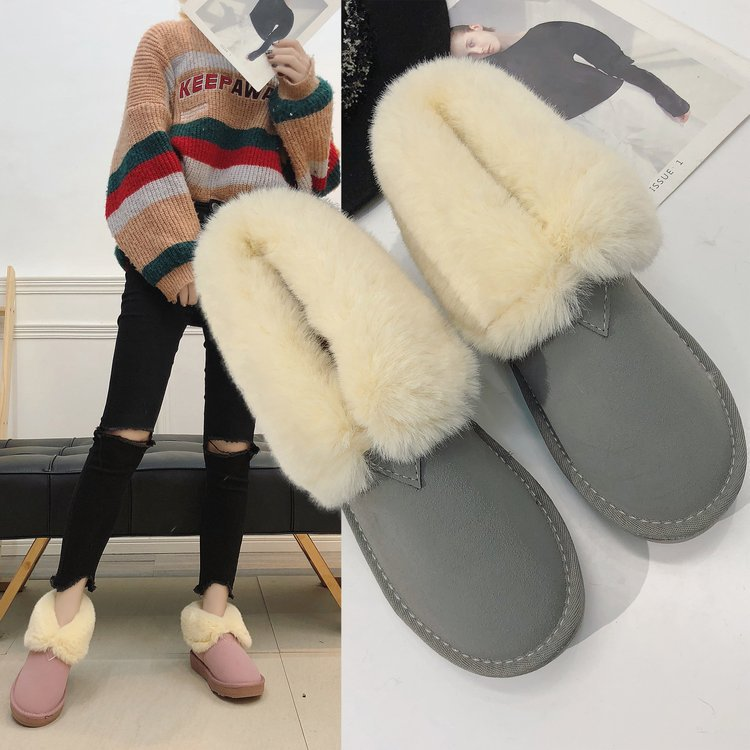 3 Casuales Invierno Impermeable 1 Rosa 2 Para De Zapatos Botas Mujer Peluda  4 Plataforma Moda Plana 2018 Bota Nieve Gamuza ... 4517b738b514