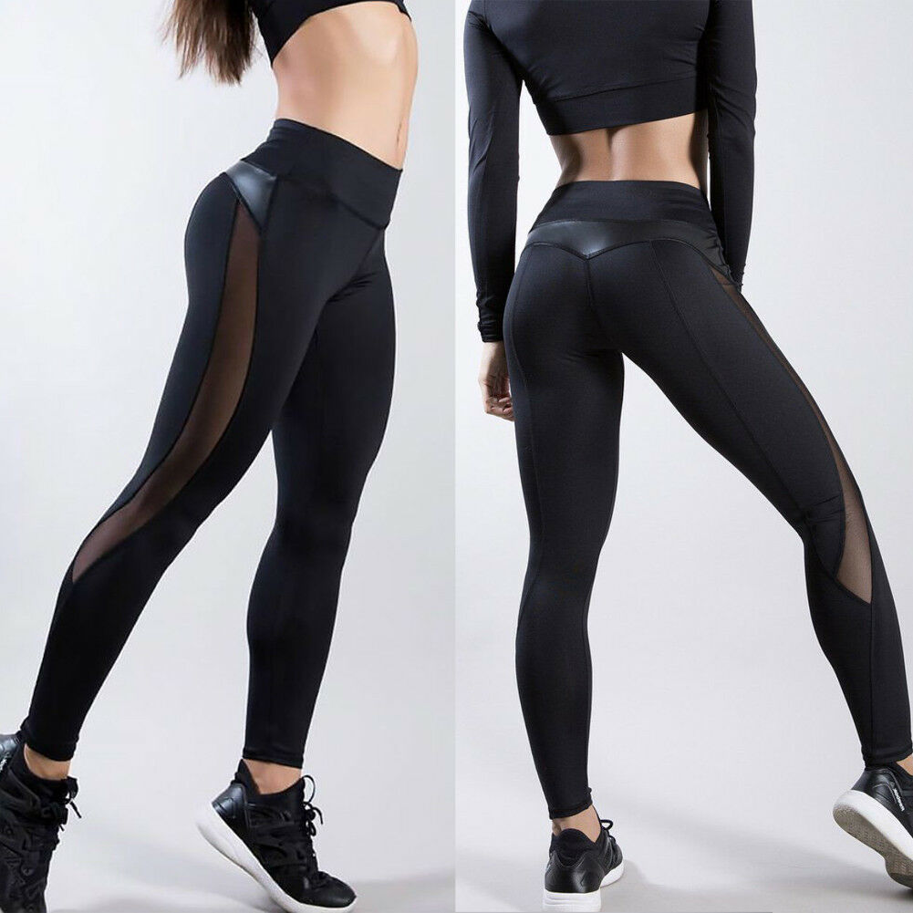 Women HOT Gym Yoga Fitness Leggings Running Sport Pants Workout Striped Trousers
