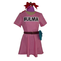 Dragon Ball Bulma Dress cosplay costume with accessory Uniform New in Stock Halloween Christmas Party Uniform Any Size
