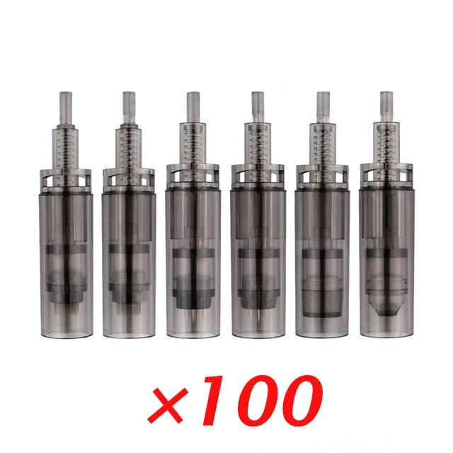 100 Pieces Bayonet Derma Needle Cartridge Rotary Needles For Electric Auto Micro Needle Derma Pen A7 Eyebrow Eyeliner Tips