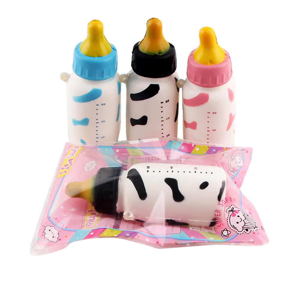 MUQGEW 1PC random color Slow Rising Toys Gifts Squeeze Jumbo Stress Stretch Soft Yogurt Bottle Scented Stres Giderici E06