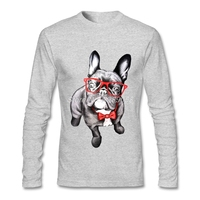Mens T Shirt French Bulldog Funny Camisetas Cute Animal Clothing Luxury Brand Full Sleeve T Shirts