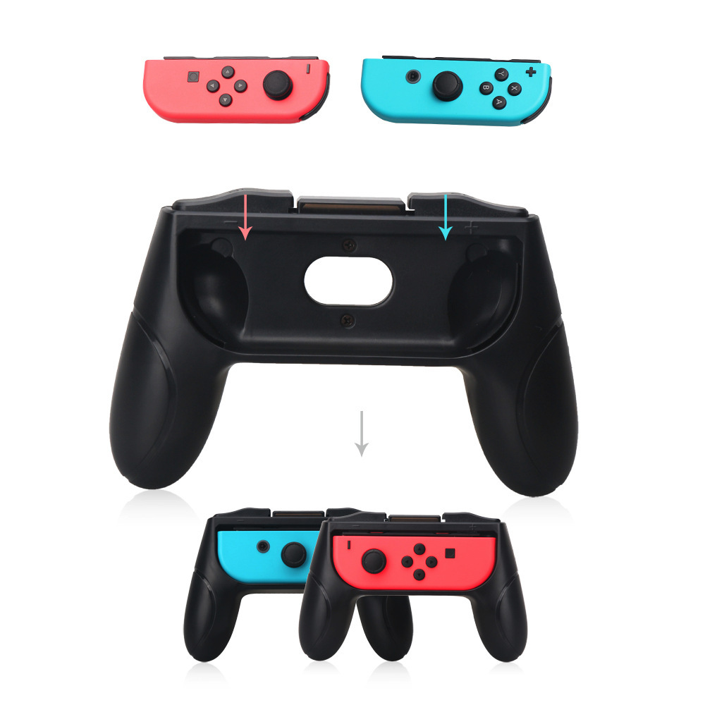2PCS Switch Gaming Machine Accessories Joy Con Grip Left Right Hand Grip Handles ...