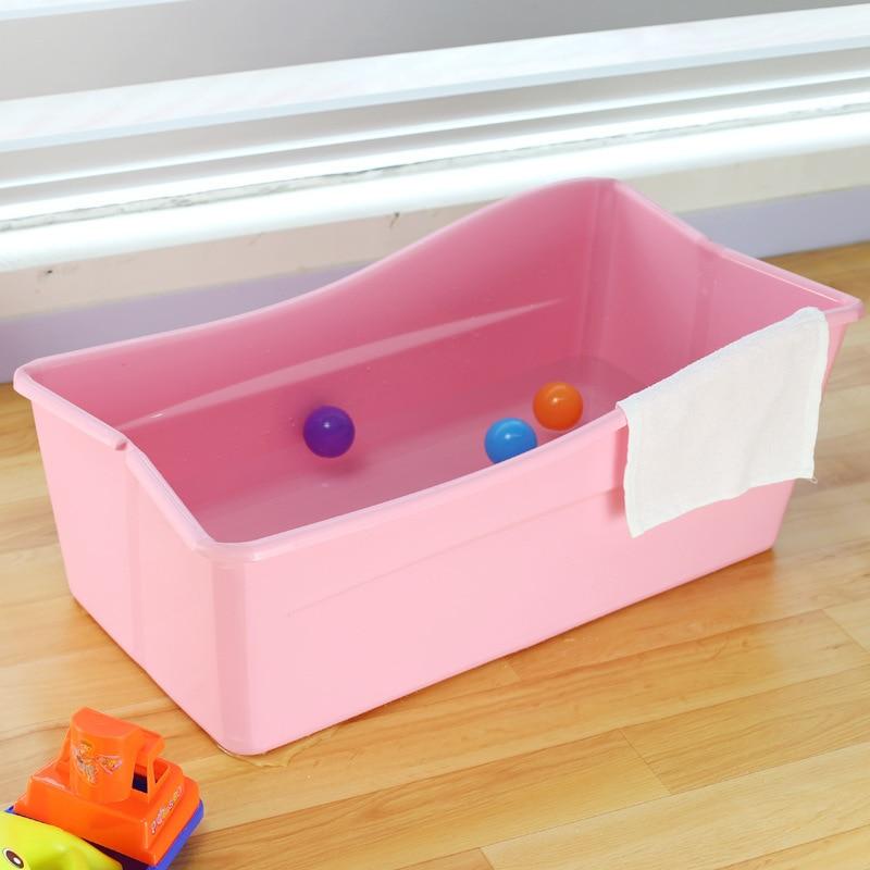 Adjustable baby bath tub plastic bath tubs colorful foldable ...