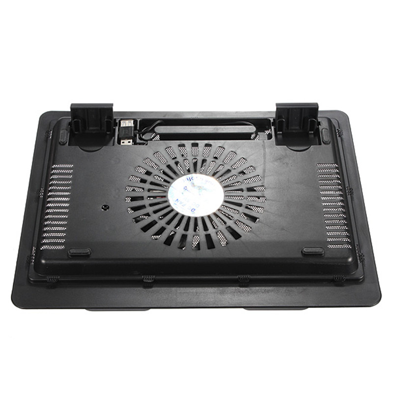 Backlight Computer Radiator Black White Thin USB Laptop Cooling Pad Notebook Cooler Stand with 140mm LED Cooling Fan