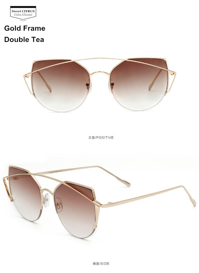 HTB1 7O3PFXXXXboXFXXq6xXFXXX4 - Sweet CITRUS Cat eye Sunglasses Women Luxury Brand Designer Metal Original Sun Glasses For Female vintage Oculos De Sol Feminino