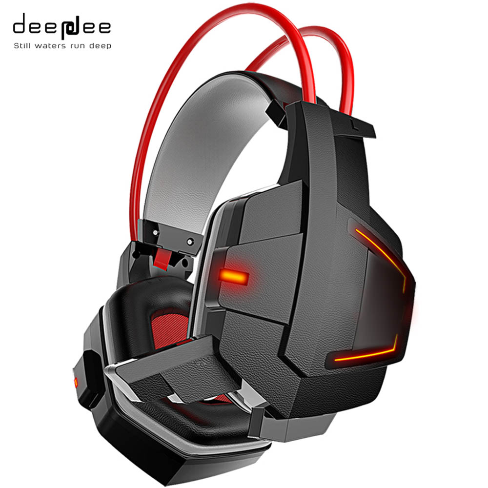 DEEPDEE  Gaming Headset Stereo Headphones with Microphone for Xiaomi Internet Computer Gamer Noise Canceling Music Bass Headband original xiaomi headphones mi headband microphone mp3 gaming headset pc gamer gaming headphon diaphragm stereo earphone with mic