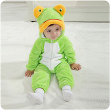 OMGosh 0-24 Months Body Suit Frog Infant Romper Fleece