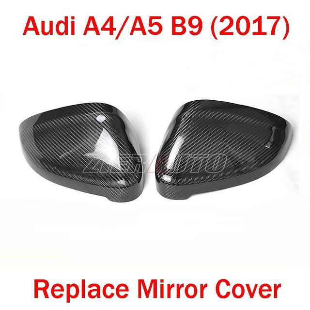 Replace Carbon Mirror Cover for Audi A4 S4 A5 S5 Side Rearview Mirror Cover Carbon Style 2017 Audi A4/A5 Exterior Parts