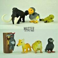 PVC figure Doll model Prehistoric animal extinct animals Dodo mammoth ornaments 7pcs/set