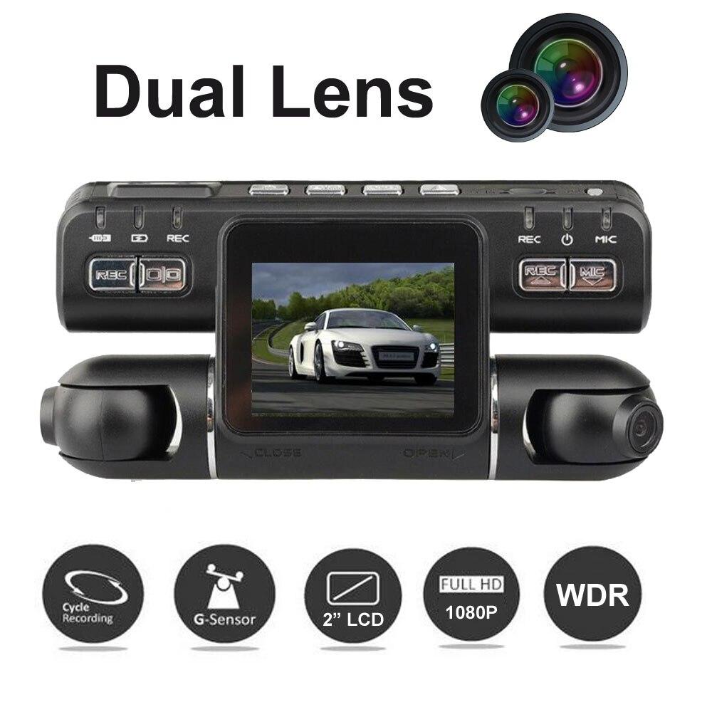 Dual Lens 2.0 Inch LCD Car DVR I4000 Camera video recorder Full HD 1080P G-Sensor Dash Cam registrator