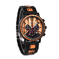 DODO DEER Top Brand Luxury Stylish Wood and Stainless Steel Watches Luminous Hands Stop Watch Mens Quartz Wristwatches OEM C04