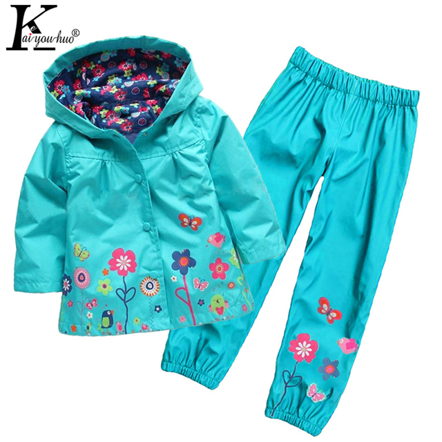 KEAIYOUHUO 2017 New Children Clothing Spring Hoodies Girls Clothes Set Sprot Suit Raincoat Baby Boy Outfit Suit Costume For Kids