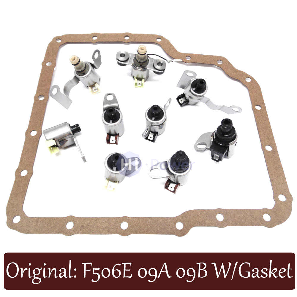 jf506e 09a 5f31 for jatco transmission shift solenoid gearbox kit set 9pc gasket for for [ 1000 x 1000 Pixel ]