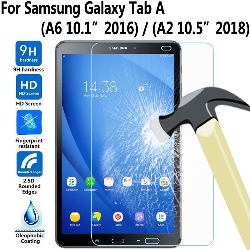 Top 9 H HD vidrio templado para Samsung Galaxy Tab A A6 10,1, 2016, 10,5, 2018 T580 T585 P580 P585 T590 T595 SM-T580 Protector de pantalla
