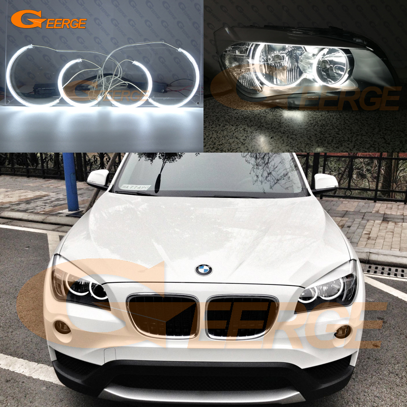 For BMW X1 E84 2010 2011 2012 2013 2014 Halogen headlight Excellent C-Shape Style Ultra bright illumination CCFL Angel Eyes kit hochitech excellent ccfl angel eyes kit ultra bright headlight illumination for ford edge 2011 2012 page 2
