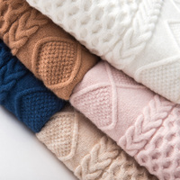 Round twist women's sweater pullover loose autumn and winter sweater pure color wild loose bottoming shirt
