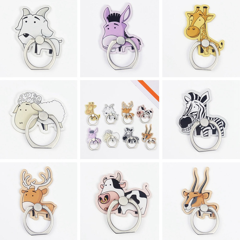 Humorous Cartoon Animals Mobile Phone Stand Holder Unicorn Finger Ring Mobile Smartphone Holder Stand For Iphone Xiaomi Huawei All Phone Selling Well All Over The World Mobile Phone Holders & Stands