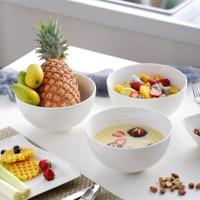 MALACASA Series Regular 1900ml/65oz Porcelain Cereal Soup Rice Ceramic Bowl, Set of 3, White (20 * 20 * 10cm)