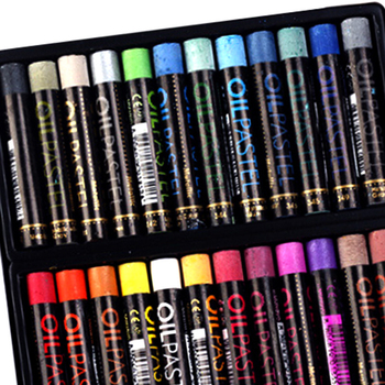 12/24 Colors Soft Crayon Oil Pastel for Artist Student Graffiti Painting Fluorescent Metallic Color Pen School Stationery Gift