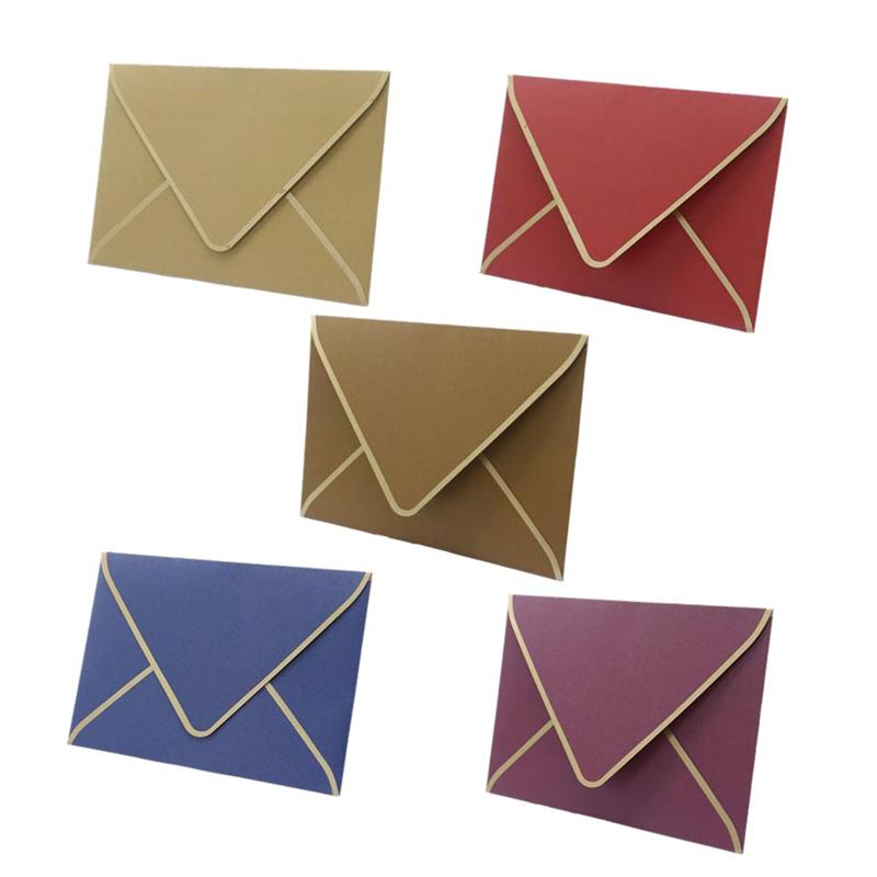 Us 2 27 49 Off 5pcs Hot Stamping Business Simple Envelope Creative Invitation Letter Practical Invitation Card Invitation Card For Wedding In Cards