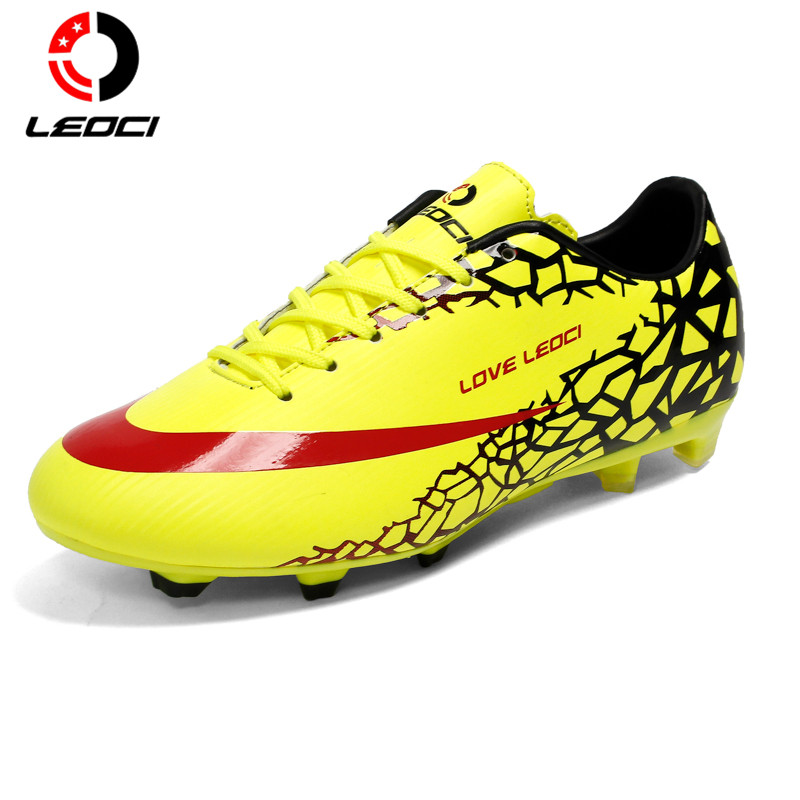 LEOCI Soccer Cleats Boots Turf Football Soccer Shoes Hard Court Outdoor Sneakers Trainers Adults Sport Shoes For Adult & Kids vizari mens sorrento m soccer cleats silver black 93253