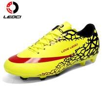 651b306216 LEOCI Chuteiras de futebol Botas de Futebol Turf Chuteiras Quadra Dura Ao Ar  Livre Sneakers Formadores de Adultos Desporto Sapat.