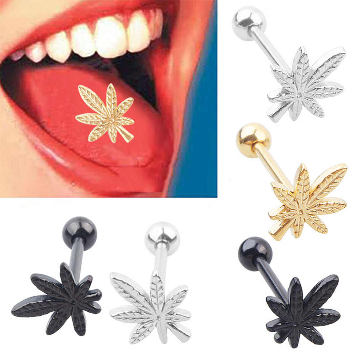 Trendy Surgical Steel Lip Piercing Ring Stud Shellhard Piercing