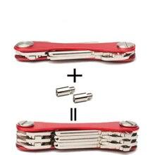 Кошелек для кармана «сделай сам», умный брелок, брелок для ключей, кошельки, портативный компактный алюминиевый зажим для ключей, многофункциональный смарт-зажим