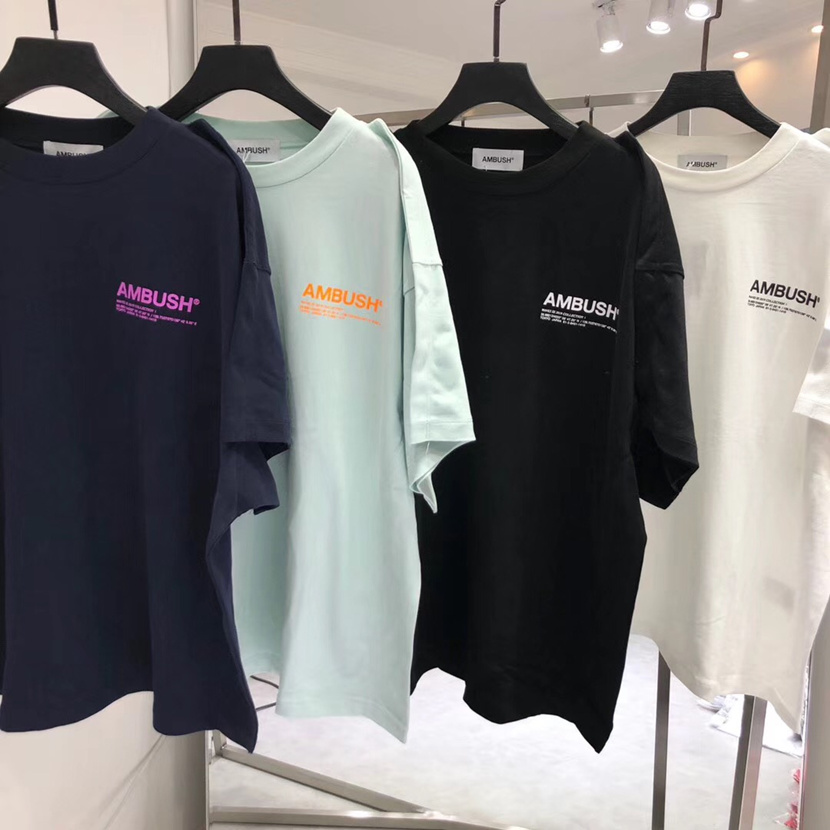 19ss Ambush T Shirt  Men Women 1:1 Top Quality 3M Reflective Tshirt High Street Hip-Hop Cotton Top Tees Ambush T-shirt