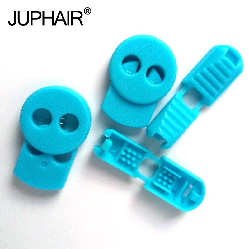 JUP1-50 Sets Light Blue Magnetic Elastic Shoes Buckles Decorative Buckles Child Adult Closures No-tie Shoelaces Never Tie Laces jup1 50 sets 20piece set  black fashion