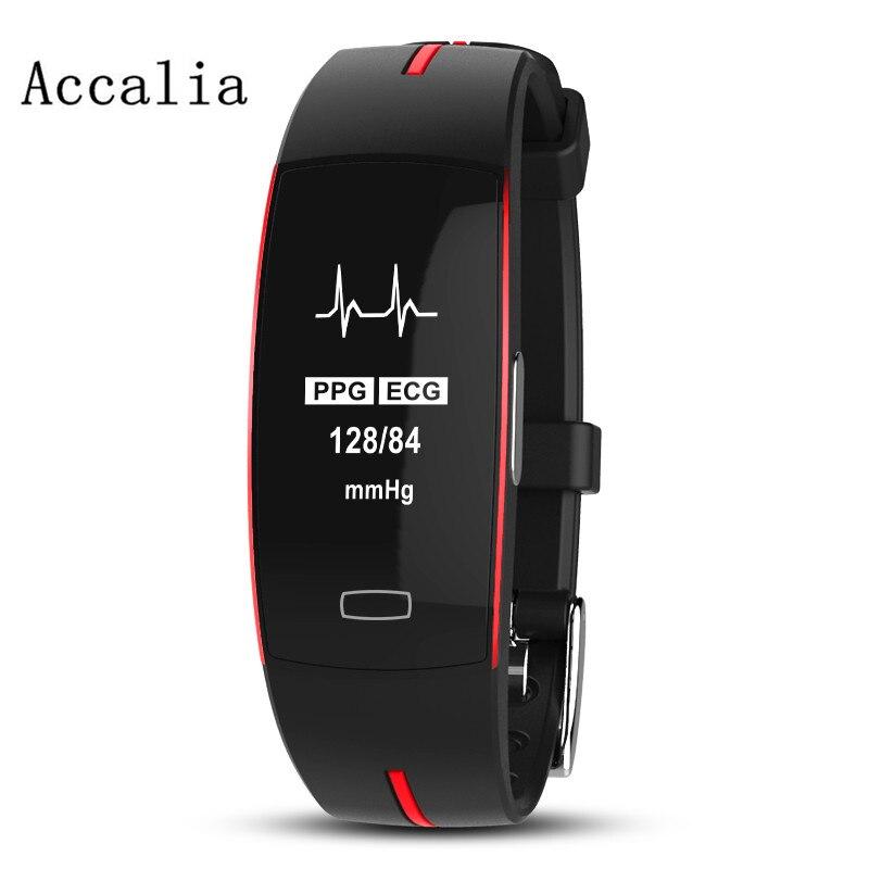 ECG + PPG ACCALIA IP67 Profissional Esporte Relógio Inteligente À Prova D' Água Pulseira De Fitness Rastreador pulseira eletrônica