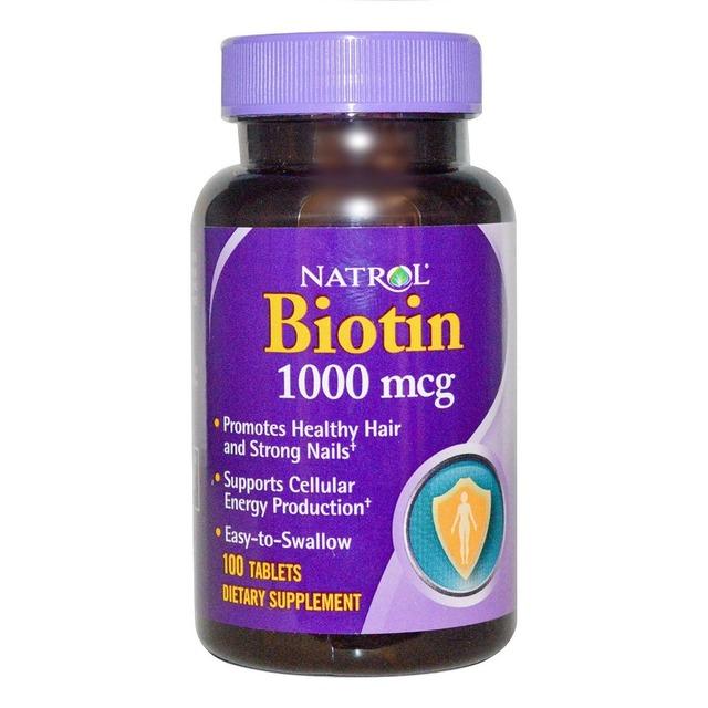 Frete grátis Natrol Biotina 1000 mcg 100 comprimidos