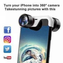 High Quality Travel 360 Degrees Camera Lens Cell Phone Lens Lightweight For iPhone 8766S Plus 360 degrees