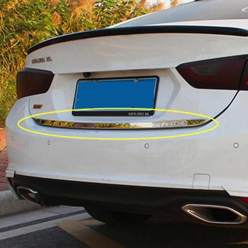 FOR CHEVROLET MALIBU 2017 ACCESSORIES STAINLESS TAIL DOOR TRUNK BOOT TRIM MOLDING STICKERS CAR STYLING