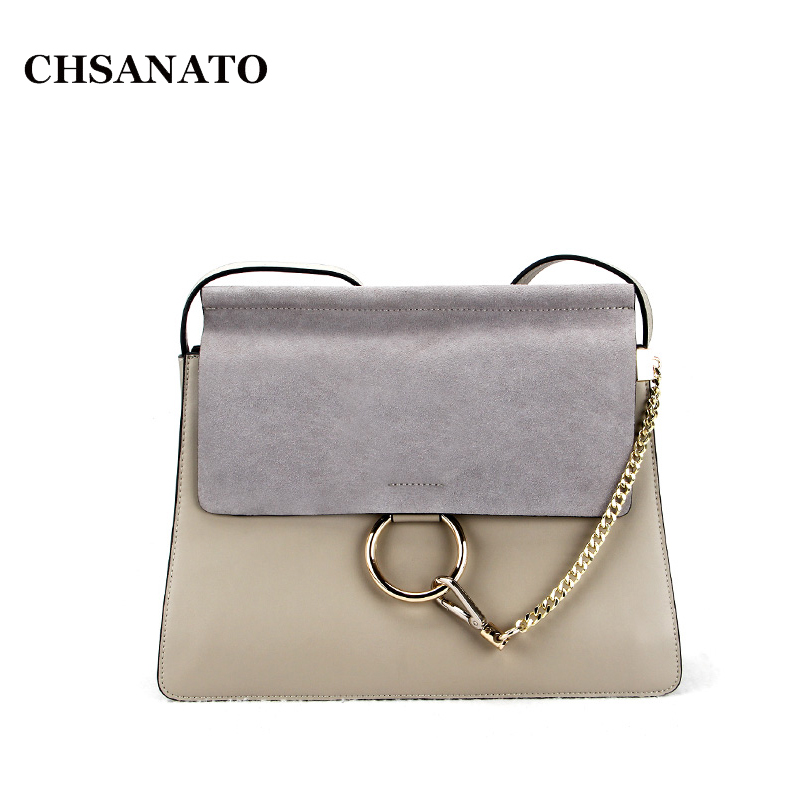 CHSANATO Hot Sale Popular Fashion Brand Design Women Genuine Leather Cloe Bag High Quality Real Cowskin Shoulder Bag Chain Organ brand design genuine real leather shoulder bag large size hot sale plaid pattern chain bag fashion women handbag freeshipping