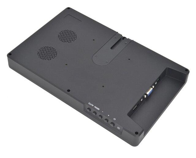 10,1 pulgadas 1920-1080/2560-1600 Mini Monitor incorporado altavoz HDMI VGA compatible con Raspberry Pi PS3 PS4
