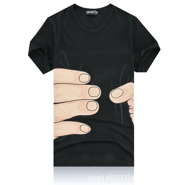 b09177f0bba3a New Design Men Summer Tees Plus Size Shirt Short Sleeve T shirt Hands  Cotton T-shirt Female 3D Designer White Black Clothing