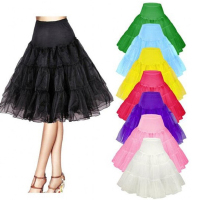 Multi Color Wedding Mini Petticoat A Line Vintage Tulle Petticoat Crinoline Underskirt Rockabilly Swing Tutu Skirt