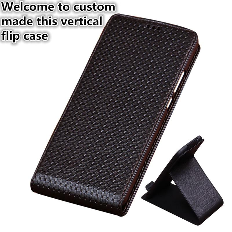 HY03 Véritable Cuir Flip Couverture De Cas Pour Nubia Z17 Mini S Vertical flip Téléphone Up et Down Couverture En Cuir téléphone cas