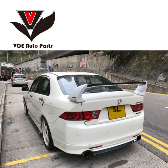 2003 2004 2005 2006 2007 Abs Plastic Unpainted Primer Sport Style Rear Spoiler For Honda Accord Euro R Cl7