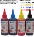 Universal alta qualidade 4 cor premium tinta corante 400 ml para epson stylus s22/sx125/sx130/sx230/sx235w/sx420w/sx425w/sx430w impressoras