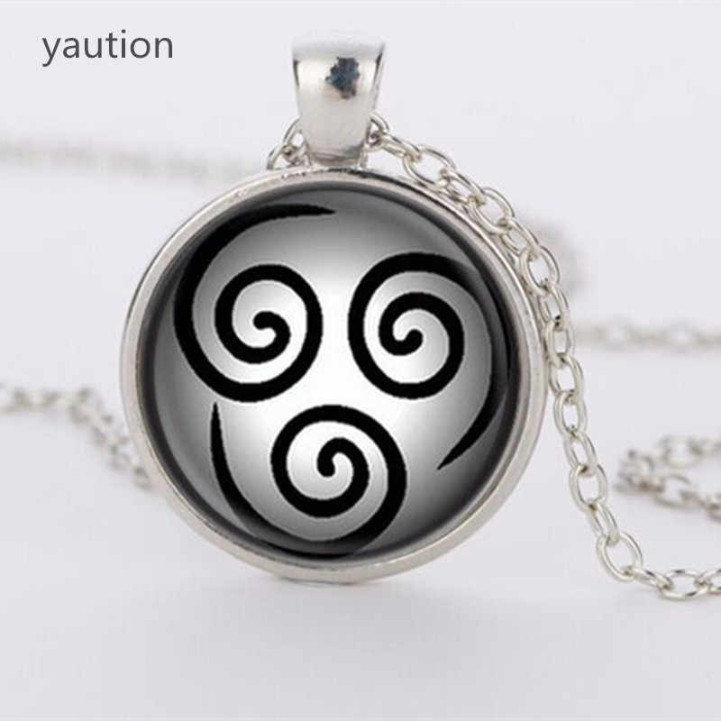 Avatar the Last Airbender Pendant Air Nomad glass Pendant necklaces Charm Gray Necklace Chain men Jewelry women gift