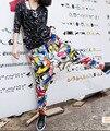 Женская Повседневная Повседневная Багги Шаровары Хиппи Уличный Танец Бегунов Брюки Промежность Танцевальная Одежда Дешевые Брюки Свободные Костюм