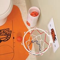 Best Offer Buy Novelty Toilet Bathroom Basketball Slam Dunk Game Toy Set Sale ZJF