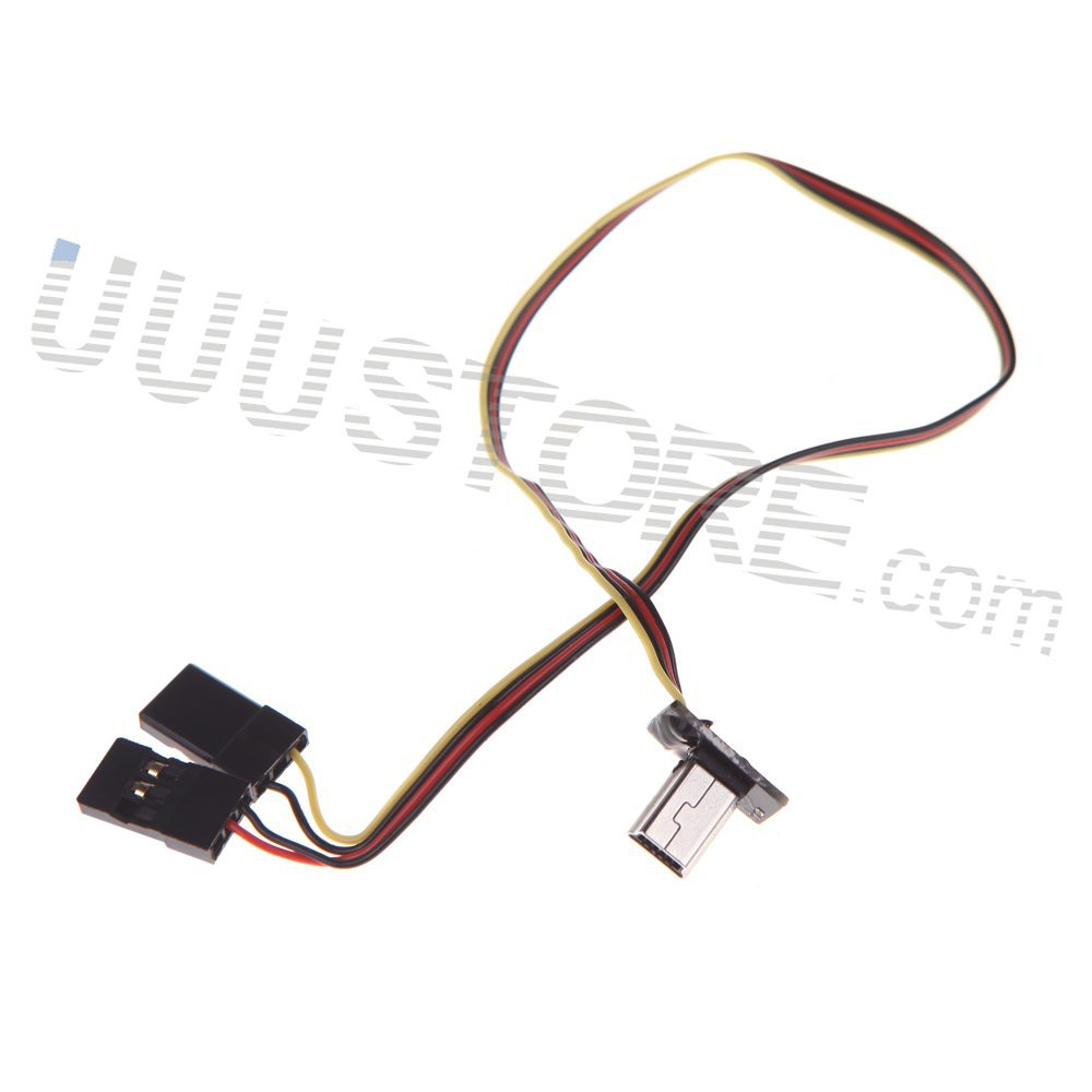 FPV Mini Gopro Hero3 Hero4 USB TO AV Video Output 5V DC power BEC input  Realtime Conversion Cable plug Gopro AV Cable-in Parts & Accessories from  Toys ...