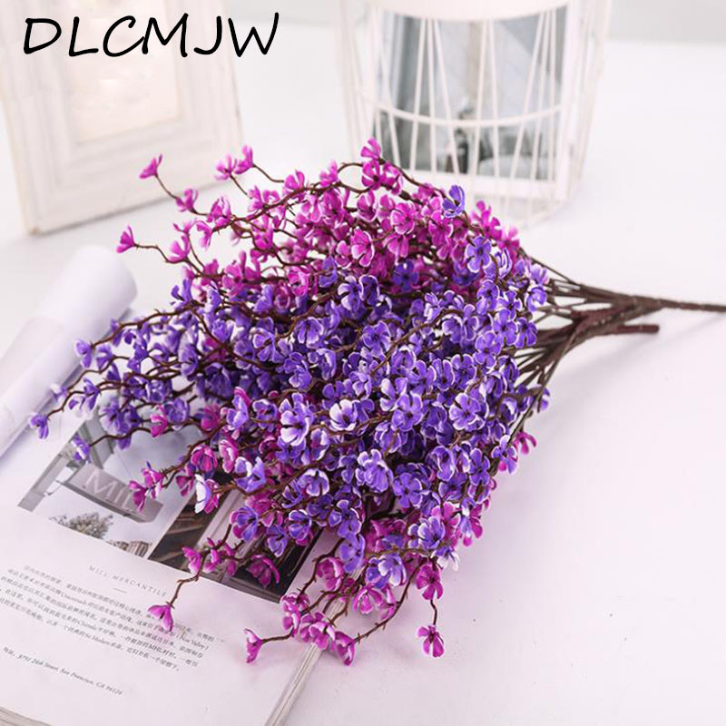 Us 1 94 35 Off Artifical Flowers Plastic Plum Blossom Fake Flower For Home Wedding Garden Party Decoration Plum Blossom Decor Flowers Bouquet In